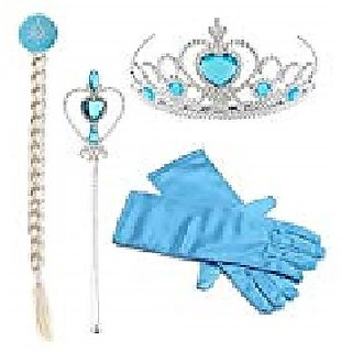 Elsa Or Frozen Cartoon Accessories Set With Gloves For Kids