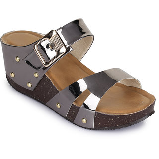Sapatos Women Grey Wedges