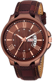 The Shopoholic Analogue Brown Dial Day Date Men Watches-(EG-M-064)
