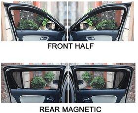 Half Magnetic Window Sunshades/Curtains for Hyundai Verna ( 2018 )  - (Set of 4)