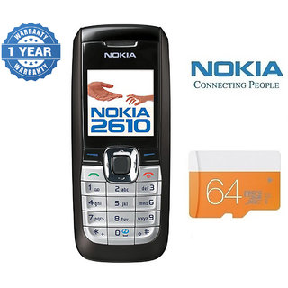 Nokia 2610/ Good Condition/ Certified Pre Owned (1 Year Warranty) with 64GB Memory Card