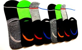 Premium Quality Cotton Loafer Athletic Socks (Multicolour) - Pack of 3