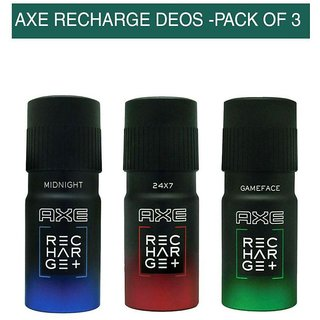 Axe Recharge Deodorants (combo of 3)(flavours may vary)