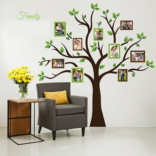 Asmi Collections Wall Stickers Big Family Photo Tree - (6 Feet(H)  5.7 Feet (W))
