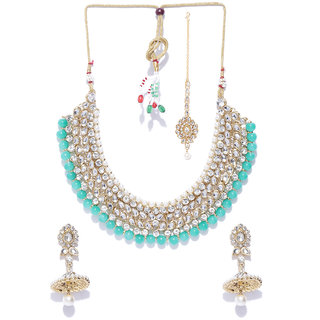 bfd7e604e Buy Zaveri Pearls Traditional Kundan Pearls Choker Necklace Set-ZPFK8289  Online - Get 72% Off