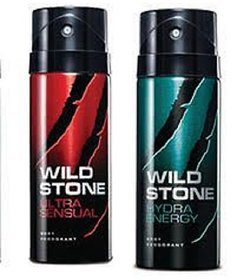 Wild Stone Set of 2 (Hydra  Ultra Sensual) Men Deodorant (150mlX2)
