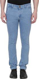 Xee Men's Slim Fit Blue Jeans
