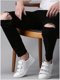 Xee Men's Slim Fit Black Jeans