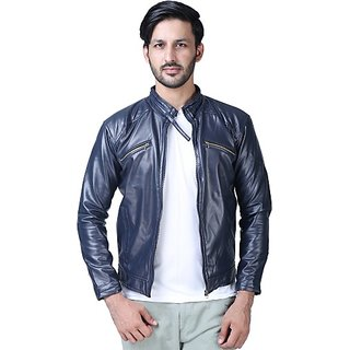 Xee Men's Blue Slim Fit Casual Jacket