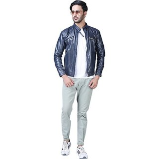 Xee Men's Blue Casual Jackets