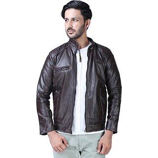Xee Men's Brown Casual Jackets