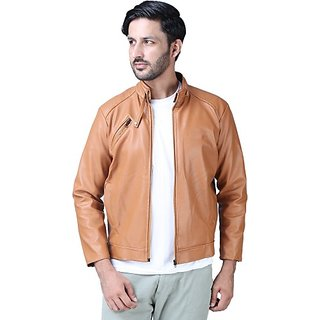 Xee Men's Brown Casual Jackets