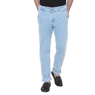 Xee Men's Regular Fit Blue Jeans