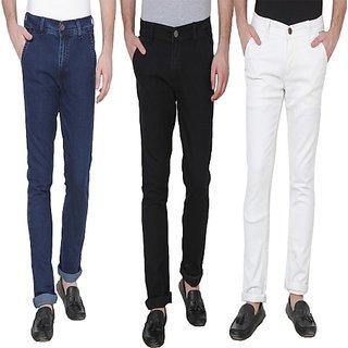 Xee Men's Multicolor Regular Fit Jeans