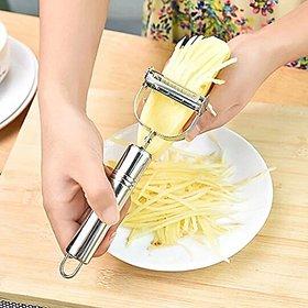 Multifunctional 360 Degree Rotary Potato Peeler, Vegetable Cutter  Fruit Melon Planer