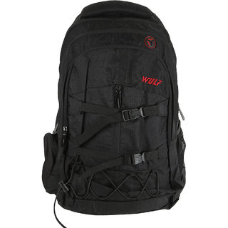 Wulf  Black Polyester College Bags / Laptop Bags  Compartment 3 35 Ltrs