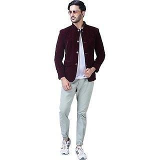 Xee Men's Maroon Blazers