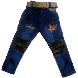Dhingli House Kids Full Length Jeans for Boys in Blue Colour with Beautiful Design in Size 1 Year TO  3 Year