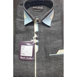 MARK ESTILO Men's Party Wear Linen Shirt
