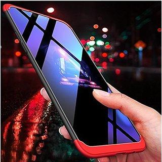 Samsung J6 Plus Front Back Case Cover Original Full Body 3In1 Slim Fit Complete 3D 360 Degree Protection Black Blue