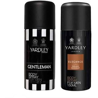 Yardley Men (Elegance, Gentleman) Deo Pack of 2-Each 150 ml