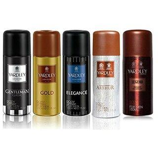 Yardley London Gentleman-1, Gold-1,Elegance-1, Arthur-1, Legend-1 Deo Combo For Men(Pack Of 5)