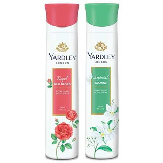 yardley women red rose and jasmine 150ml deodorant