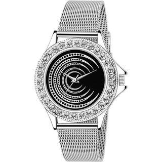 LUCASI SILVER  Rich Look Designer Chain Stell Strap Fancy Dial Women Watch - For Girls