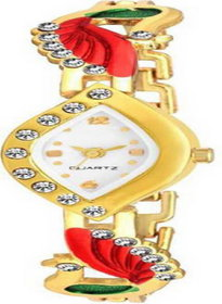The Shopoholic White Analogue Dial Latest Fashionable Watch For Girls