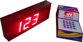 DDI 3 Token Display System With Voice For Hotel, Bank, Restaurant