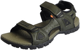 Sparx Men's Olive Black Outdoor Athletic and Sports Sandals