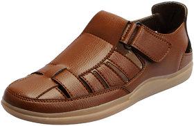 Fausto Men's Tan Outdoor Sandals