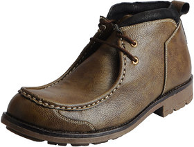 Fausto Men's Olive Ankle Boots Casual Shoes