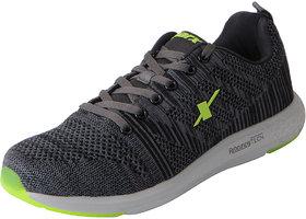 Sparx Men's Grey Green Mesh Sports Running Shoes