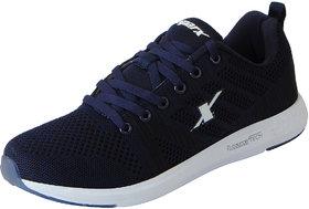 Sparx Mens Navy White Mesh Sports Running Shoes