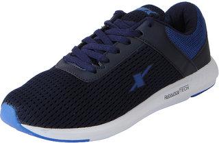 Sparx Men's Navy Blue Mesh Sports Running Shoes