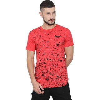 Lavishmonk Spray Pattern Sunset Orange T-shirt