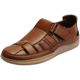 Fausto Men's Tan Outdoor Sandals