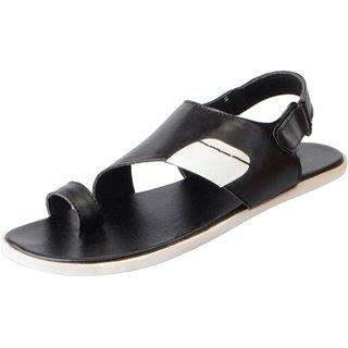 Fausto Men's Black Outdoor Sandals