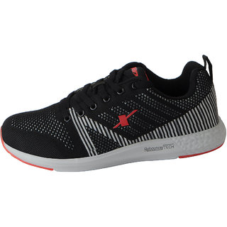 Black Red Mesh Sports Running Shoes