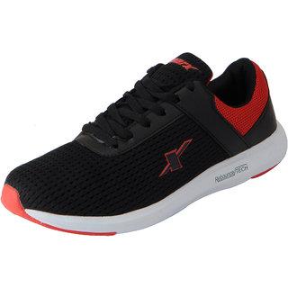Sparx Men's Black Red Mesh Sports Running Shoes
