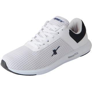 Sparx Men's White Navy Mesh Sports Running Shoes