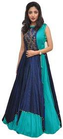 Florence Women's Sky Blue Bangalore Silk Anarkali Gown
