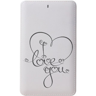 CallMate Velentine Day Special Power Bank 5000 mAH with 2 USB Port and LED Battery Indicator