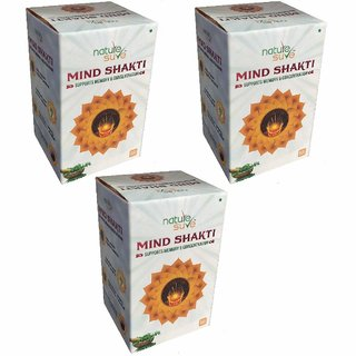 Nature Sure Mind Shakti Tablets with Natural Herbs  3 Packs (3 x 60 Tablets)