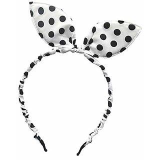 MRUVA Hair Accessories Cute Rabbit Ears Hair Band for Baby Girls - Hair Band For Girls (Black an White)