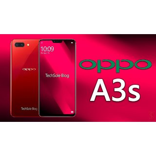 Oppo A3s (Full HD, IPS/ 6.2 inches/ Dual Sim/ Android/ RAM 2 GB/ 3G 4G/ WiFi/ 4250 mAh) (Red)