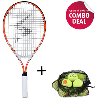 Spinway Mini Tennis Thunder Racket & Tennis Balls Stage 2 ( Pack Of 12)-Combo Offer