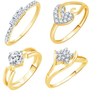 VK Jewels Gold Plated Alloy Ring Combo Set for Women & Girls [VKCOMBO1731G8]