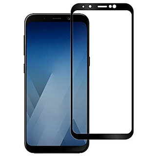 Wondrous(TM) Edge to Edge Tempered Glass (Curved Arc Edges  9H Hardness) for Samsung Galaxy J6 Plus